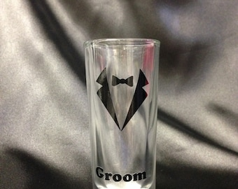 Personalised Groomsmen Shot Glasses