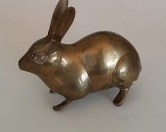 Decorative Vintage Brass Rabbit - Brass Bunny - Brass Animals - Brass Decor - Home Decor - Garden Decor