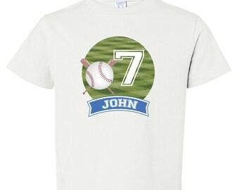 Baseball Birthday Shirt, Boys Baseball Party, Baseball Birthday Iron On, DIY Baseball Transfer, Iron On Transfer, Baseball Shirt for Boys