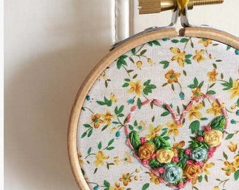 Floral Embroidery Hoop