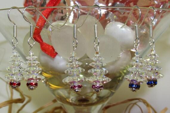 Swarovski Crystal Christmas tree earrings CT-08