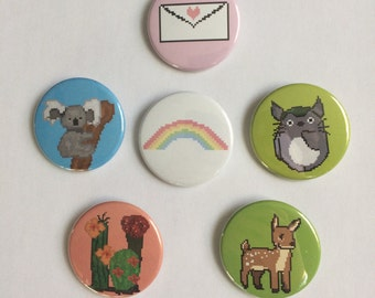 8-bit Pin Back Buttons