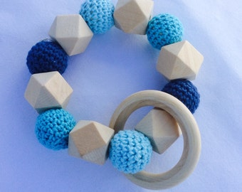 Baby teether baby toy blue