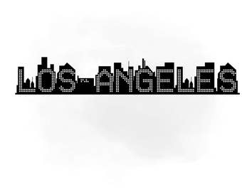 los angeles skyline svg clipart international city digital file los angeles decalla