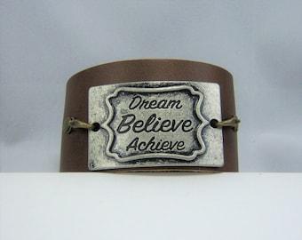 B359, Leather Cuff Bracelet
