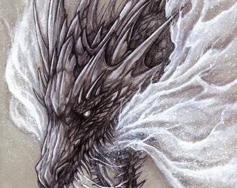 Silvermist Dragon - Print