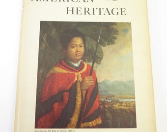 Vintage American Heritage Hardcover Magazine, February 1960, Hawaii Before the Missionaries