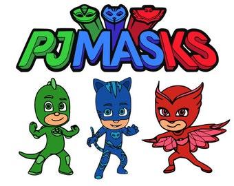PJ masks svg, pj masks, catboy svg, owlette svg, gecko svg, cartoon svg, dxf, cricut, silhouette cutting file, download