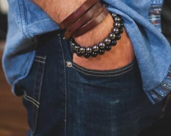 Stone Beaded Bracelets - Men's Everyday Jewelry