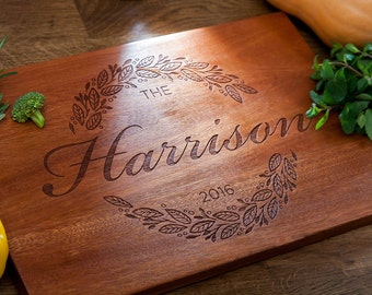 Rustic Kitchen Decor Memorial Gift Rustic Home Decor Personalized Cutting Board Custom Kitchen Housewarming Gift Personalized Unique Gift