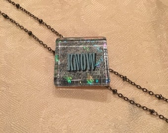 Not Just Words Necklace 'Know'
