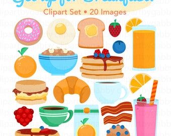 Breakfast Clipart, Vector Clipart