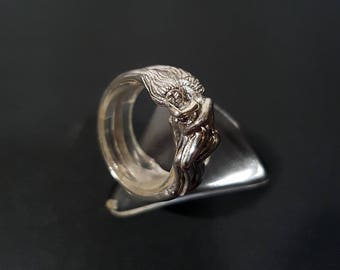 Sterling silver Lesbian ring. Promise ring. Couple ring. Wedding ring. Shipping free!!!
