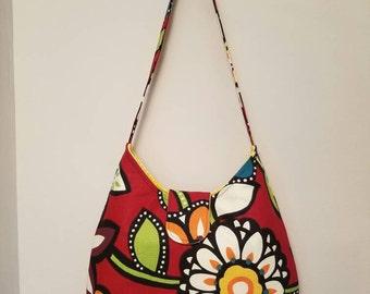 Hobo Bag - red floral