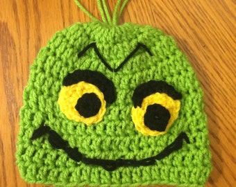Grinch Crochet Hat