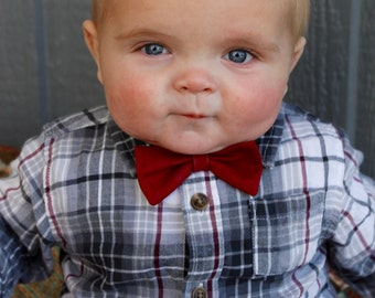 ANY COLOR Boy Bow tie/ Elastic Bow Ties/ Toddler Bow Tie/ Baby Bow Tie/ Lily Lou