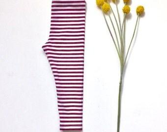 Maroon Stripe Legging