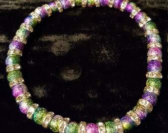 Bracelet Rainbow, Rondelle with Strass stones