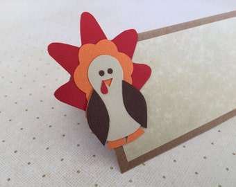 Thanksgiving Turkey Place Cards - Thanksgiving Decorations - Set of 10 Thanksgiving Place Cards - Thanksgiving Table Decor - Fall Decoration