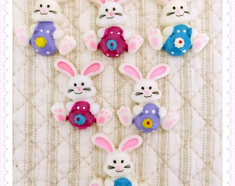 5pcs Easter flatback resin, Easter Bunny flatback resin, Easter cabochon, Easter embellishment, Easter hair bow center, Easter supply,Easter