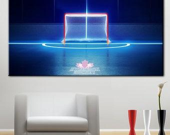 Ice hockey canvas, Hockey Canvas Art, Hockey Canvas Print, Hockey bedroom, Hockey Room Decor, Boys hockey room, Ice hockey wall art, Hockey