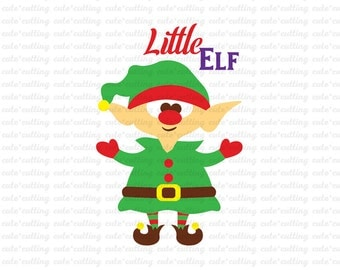 Christmas svg, Elf svg, Christmas Elf svg dxf jpeg cutting files for Silhouette Cameo, Portrait, Curio, Cricut
