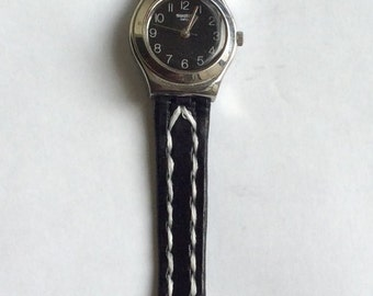 Handmade leather  watchband for small watch