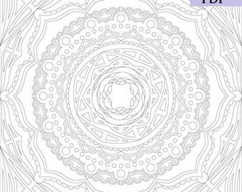 large scale coloring pagemandala drawingadult coloring pagemandala printvector mandalamandala coloring page