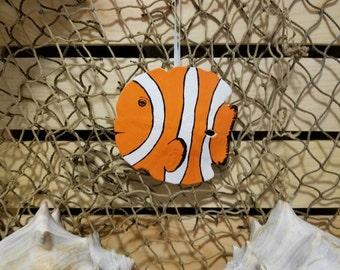 Clown fish hand painted tropical fish