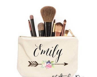Personalized name gift, Best friend, Gifts for her, Shower gift, Makeup bag Makeup Storage Cosmetic Bag, Bridesmaid Proposal, Gift ideas c10
