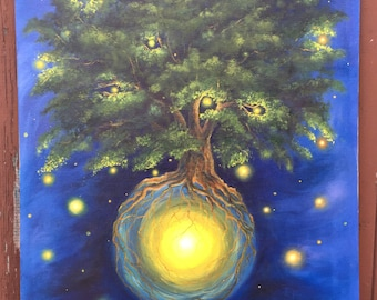 Fantastic Oil Painting  Tree of life