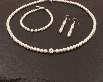 Pearlset Giulia-Bridal, bridal jewelry, swarovski, beads, wedding jewelry, wedding, jewelry