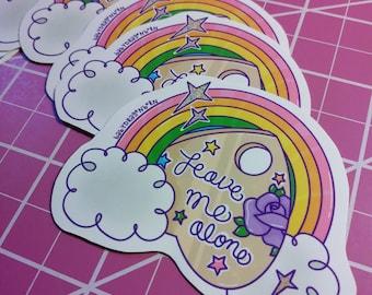 Leave Me Alone Planchette Vinyl Sticker