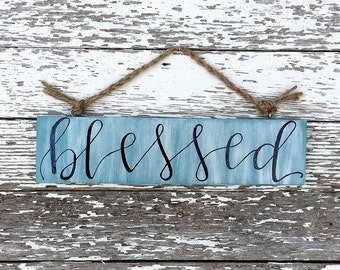 Custom Mini Blessed Wood Sign