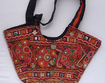 Boho Bag Hippie Vintage Style Indian Banjara Gypsy Shoulder Crossbody Bag
