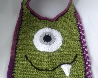 Crocheted Monster Bib