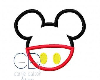 Mouse Applique Design, Mouse Embroidery Design, Mickey Mouse Applique Design, Mouse Head Applique Design