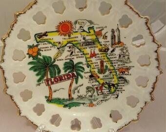 Vintage Souvenir Florida plate