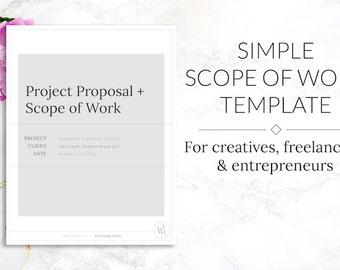 Minimalist Simple Scope of Work & Project Proposal Template