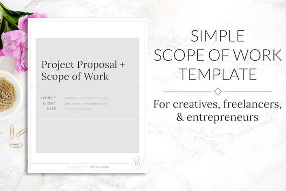 minimalist simple scope of work project proposal template. Black Bedroom Furniture Sets. Home Design Ideas