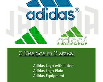 Adidas Logo Embroidery 3 Designs (2 sizes) Sport Football Soccer Baseball Basketball Brands