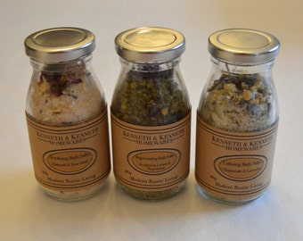 Trio of Bath Salts Spa Set // Spa Set // Gift Set // Spa Party // Gift Ideas // Gifts for Her // Party and Wedding Favours //
