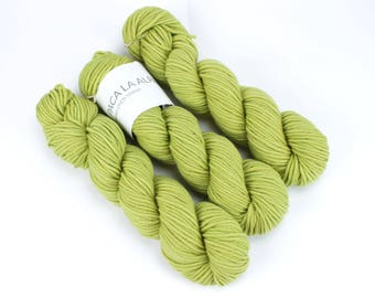 Green Hand Dyed Yarn - Aran 50gr