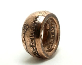 Don't Tread On Me Coin Ring from 1oz Fine Copper