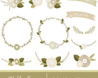 Wedding flowers, flower wreaths.