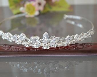Dryad,,Tiara, Crystal Crown,Bridal Tiara,Swarovski Crystal,Wedding tiara,Crown,Czech stones,accessory,royal diadem.