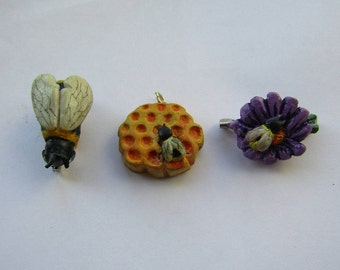 Charity donation. Bumble bee designs to be made as charms or brooches