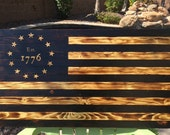 Charred Rustic 1776 Betsy Ross Flag