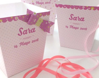 KIT BOXES SWEETS for Candy bar or tables sweet in weddings, baptisms, communions and celebrations of any theme. Completely custom.