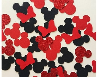 Minnie Mouse Birthday - Red and Black Minnie Mouse Birthday - Minnie Mouse Party Decoration - Minnie Mouse Party Supplies -Minnie Decoration